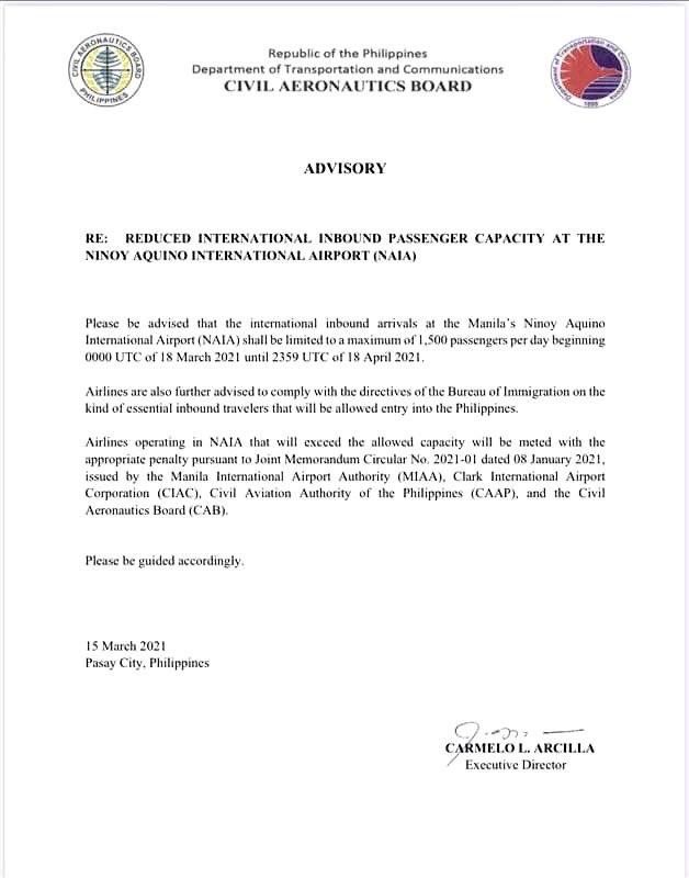 Dette betyr at det vil være komplisert for au pairer å reise tilbake til Filippinene i denne perioden
